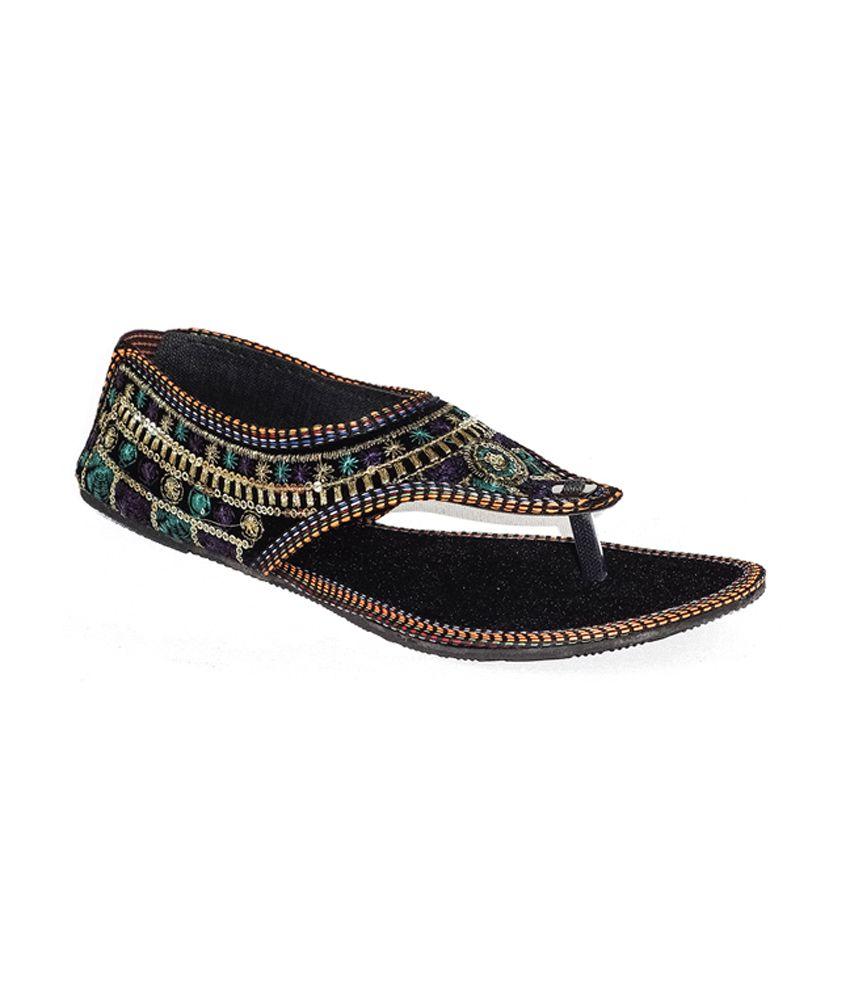 Jaipur Ebazaar Multi-color Flat Leather Sandal