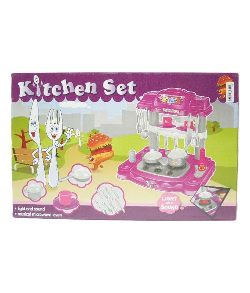 Kidz villa kitchen set baby toy buy kidz villa kitchen for Kitchen set baby
