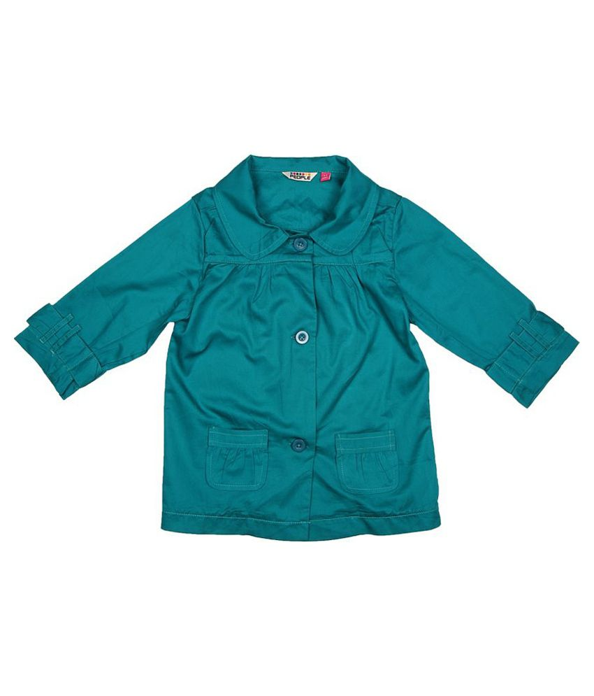 People Soft Peter Pan Collared Twill Jacket