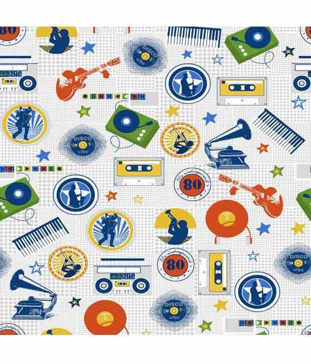 The kids decor music print fabric buy the kids decor for Kids print fabric