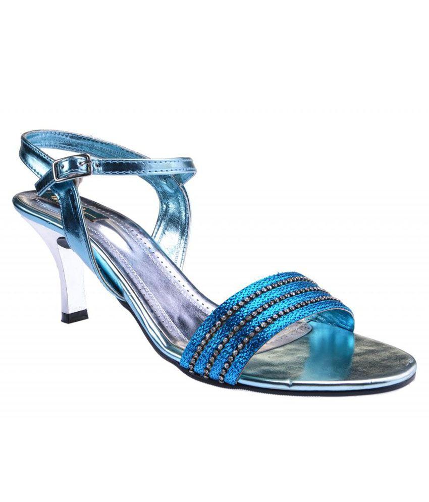 Delco Blue Stiletto Sandals