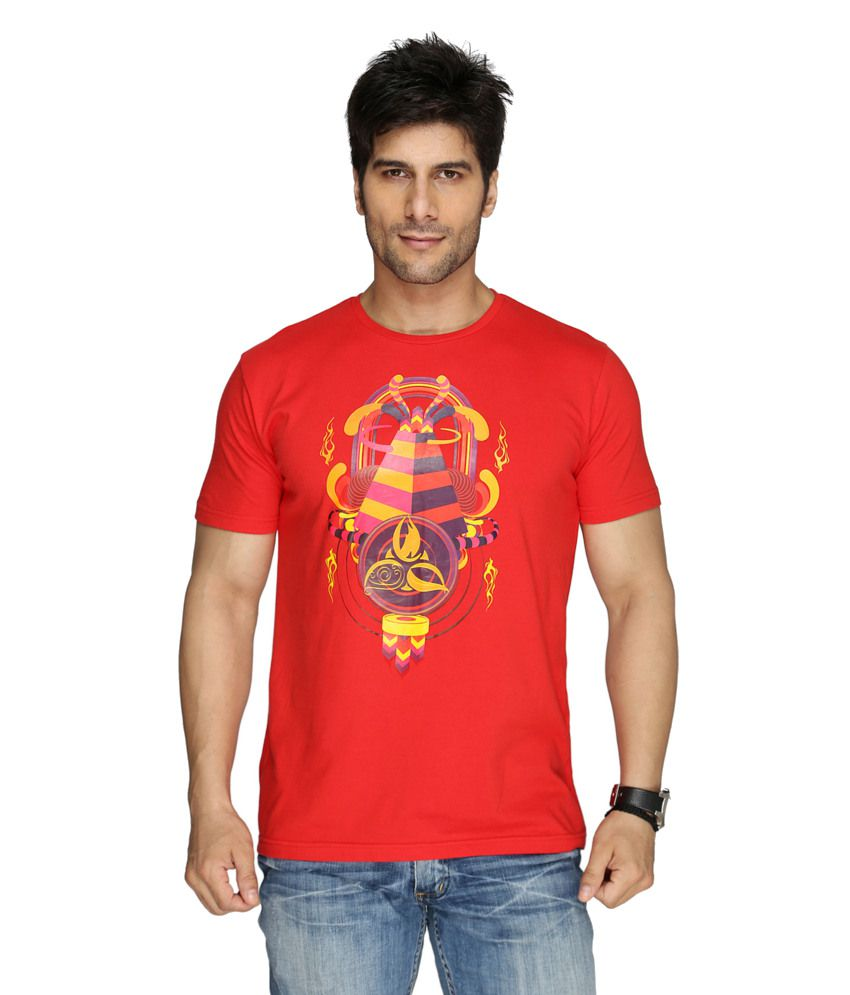 Imagica Red Cotton T-shirt