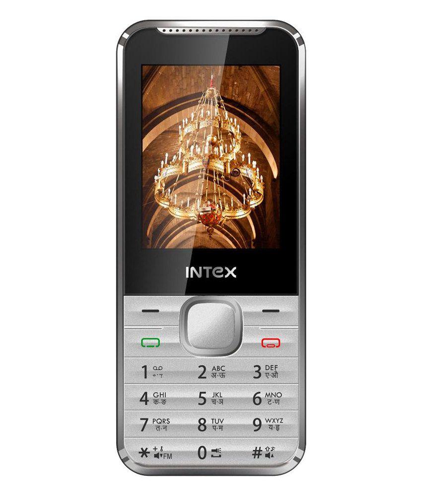 Intex Pride+ Dual Sim Mobile Phone-(Silver)