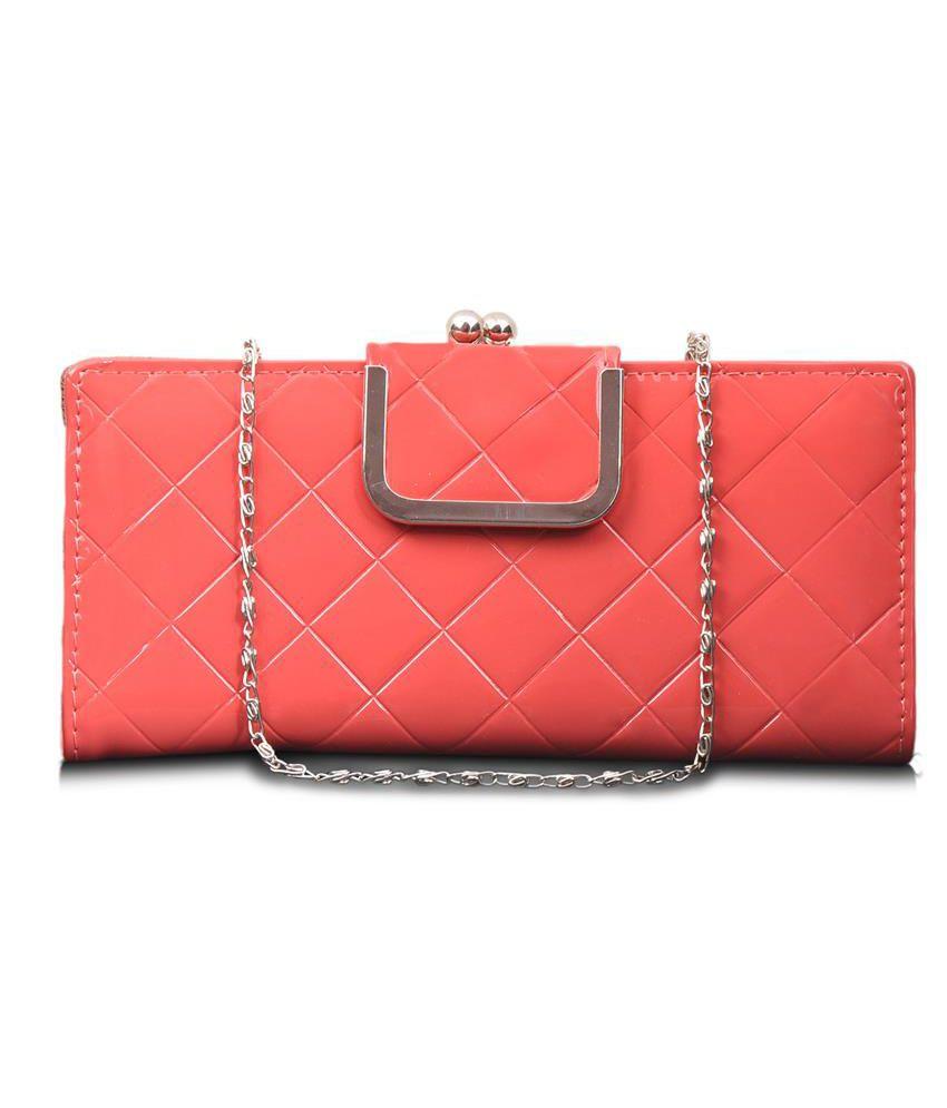Lalana Pink Non Leather Women Regular Wallet