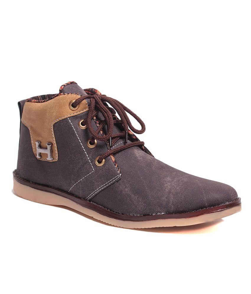 Foot Clone Energetic Brown Ankle Length Boot