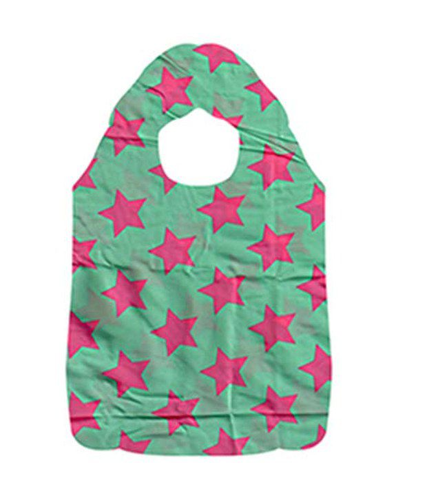 Jewelz Pink Star Marked Water Proof Shopping Bag