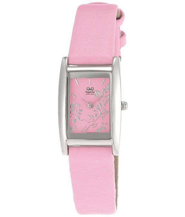 Q&q Pink Analog Watch For Women