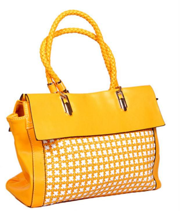 Womaniya Yellow Zip Shoulder Bag