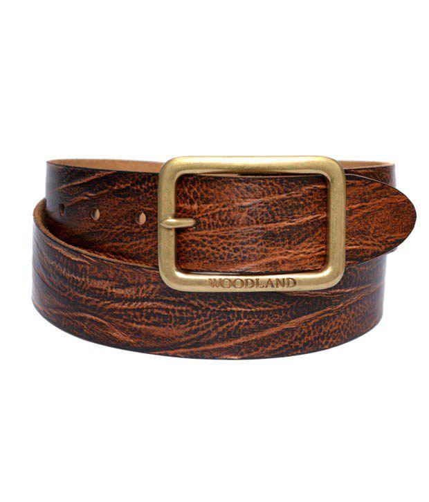 Woodland Men's Leather Belt Art BT1024BRN