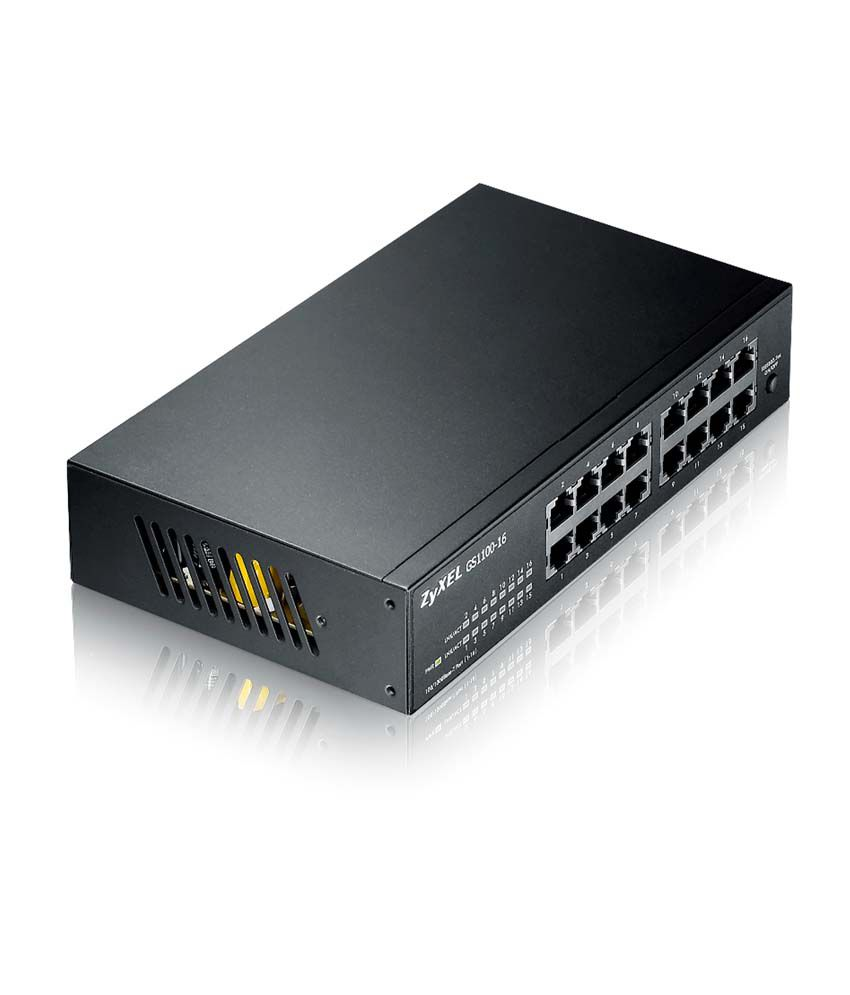 Zyxel Gs-1100-16-16 Port 10/100/1000 Unmanaged Switch Ethernet Router