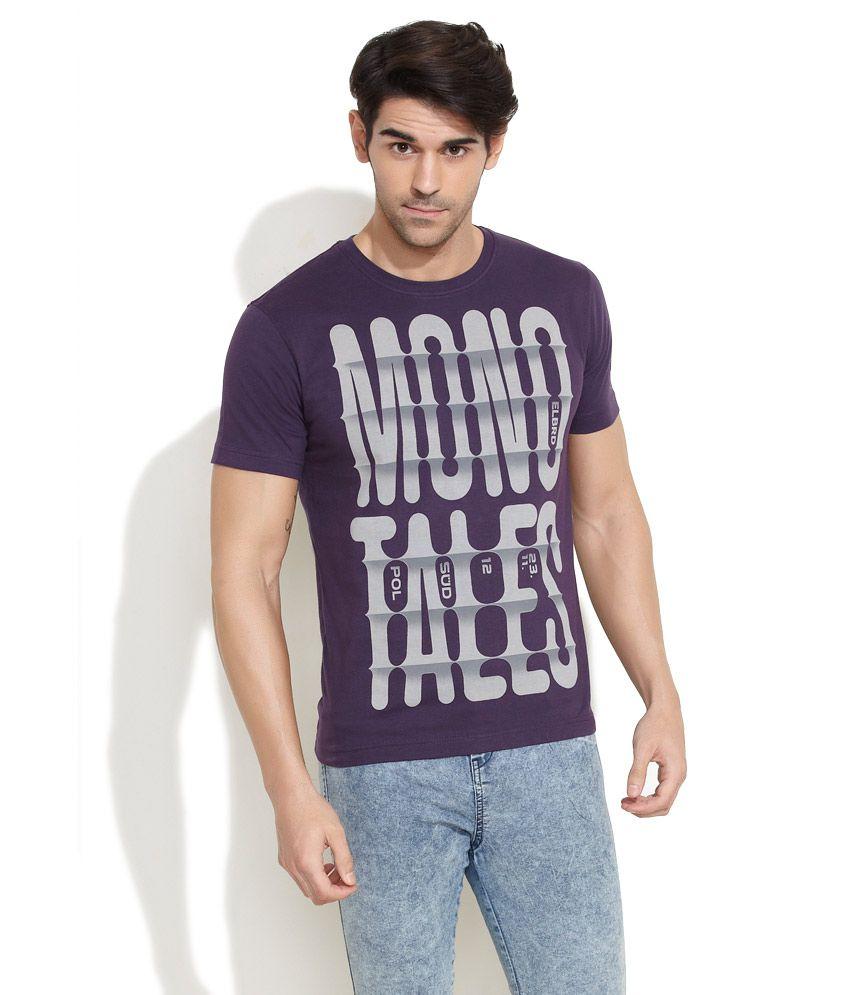 Elaborado Purple Mono Tales T-Shirt