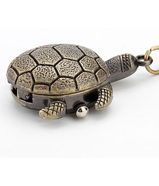 Kairos Designer Mini Tortoise Clock Keychain Vintage Key Chain
