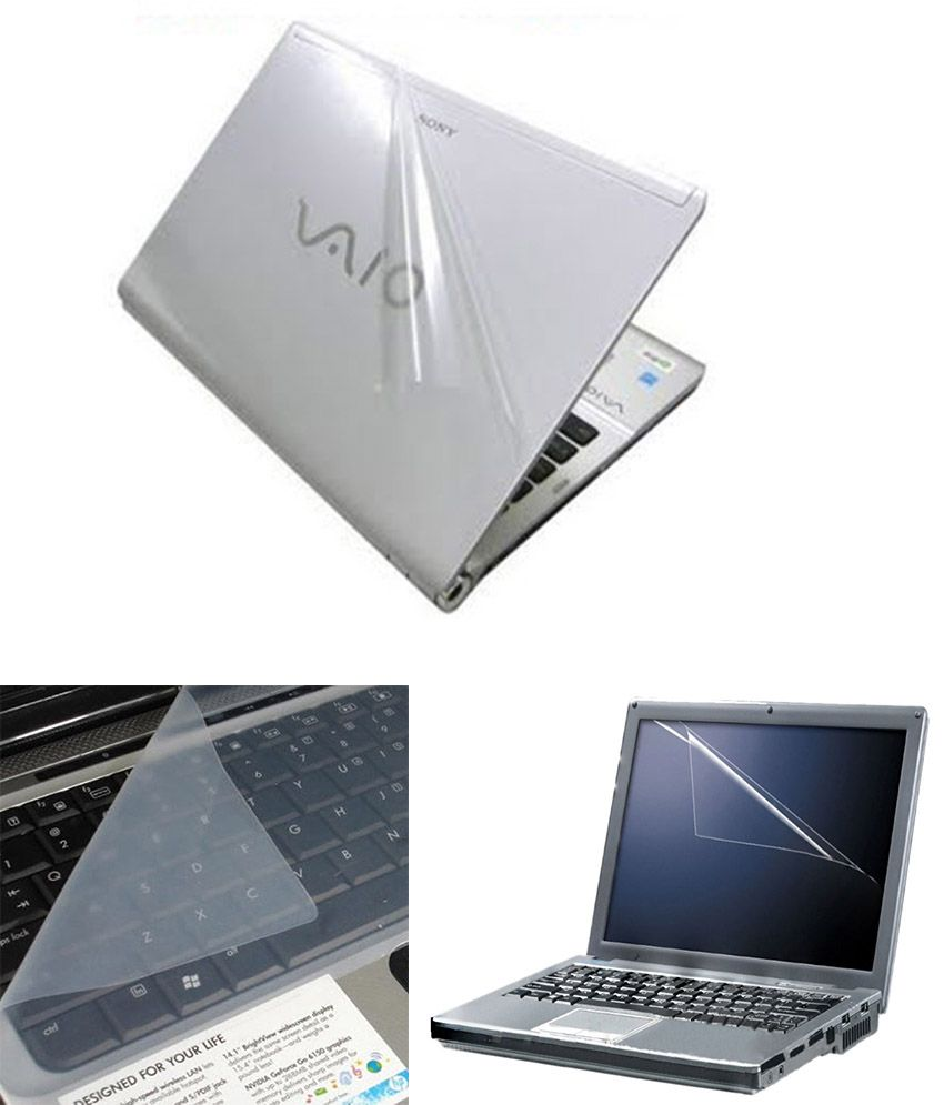 Finearts Laptop Skin 15.6 Inch   Transparent Skin, Screen Guard And Keyboard Protector