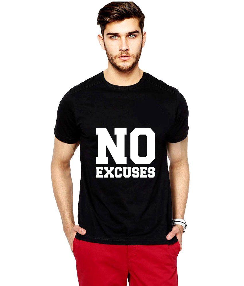 iLyk No Excuse Men Black Printed T-Shirt