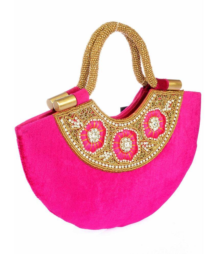 Sling pink Designer Clutch