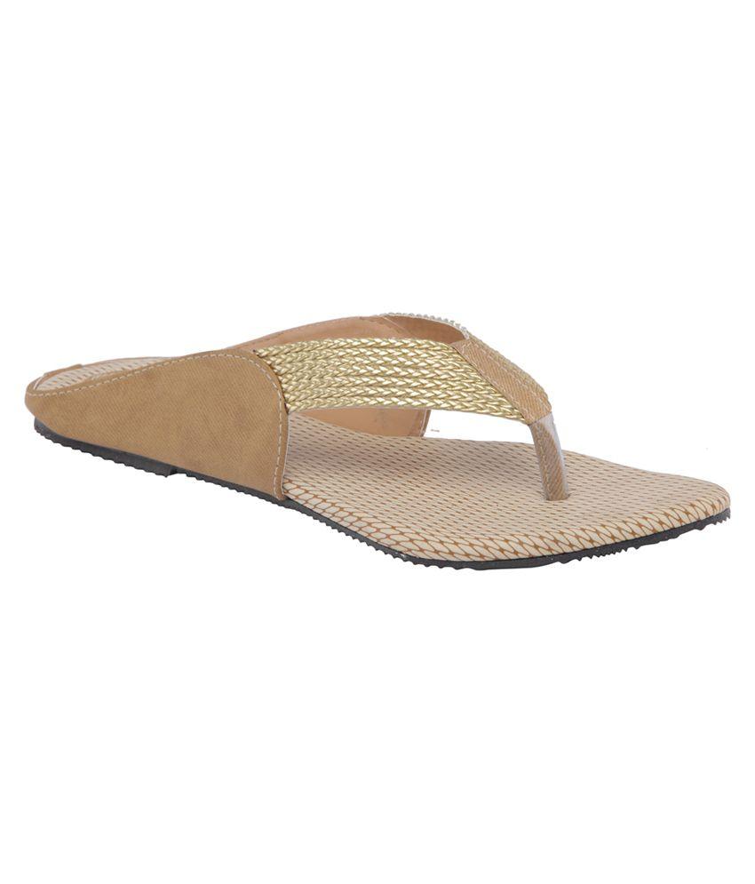 Shibha Footwear Khaki Suede Sandals