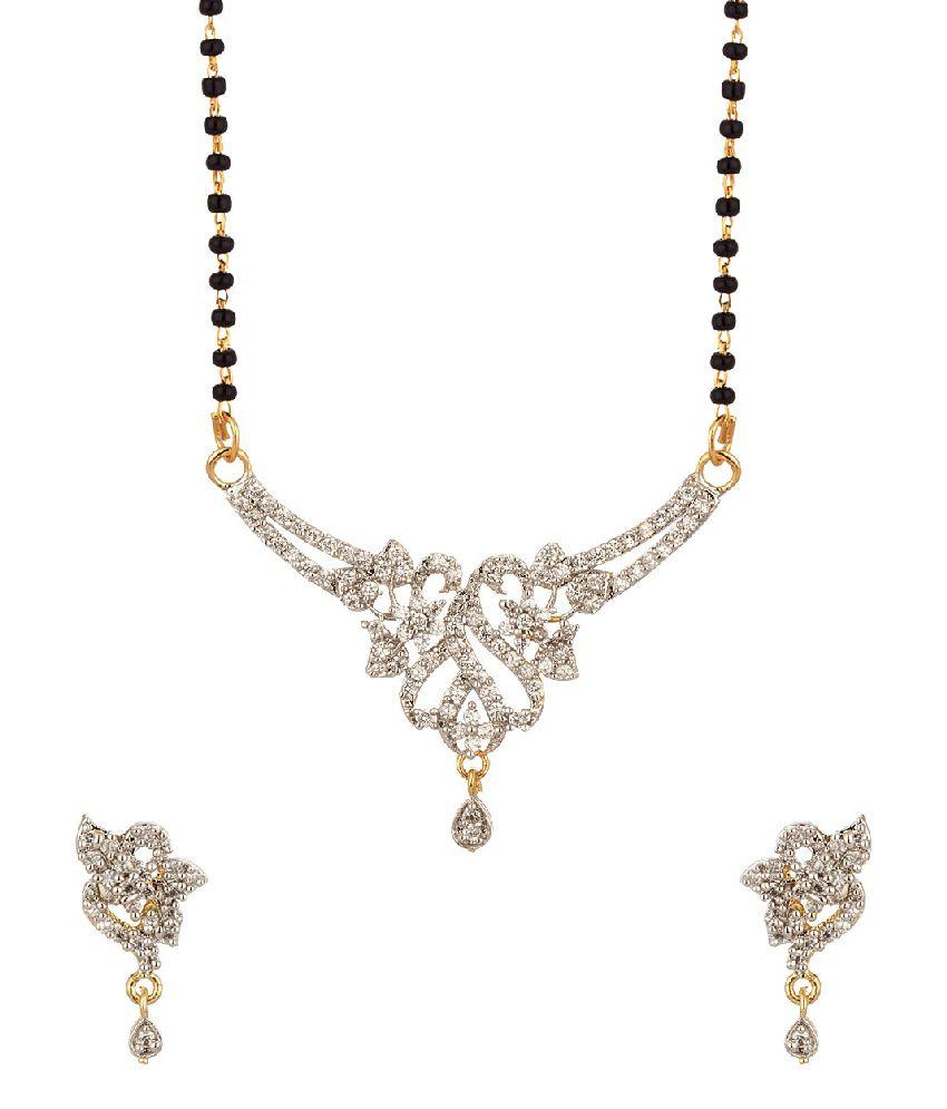 Voylla Single Chain Mangalsutra With Cz Embellishment