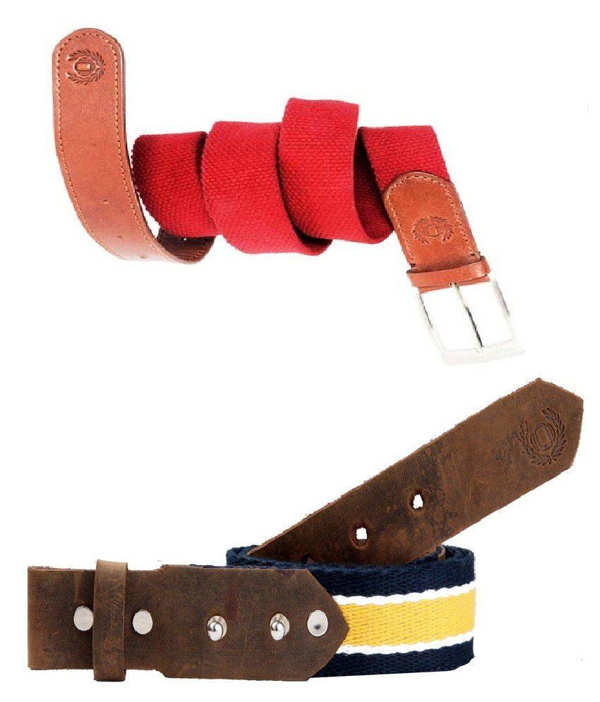 99 Cells Pure leather deisgner 2 Belt Combo