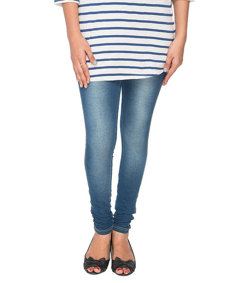 5a000f2ebae Buy Prisma Blue Cotton Jeggings Online at Best Prices in India - Snapdeal