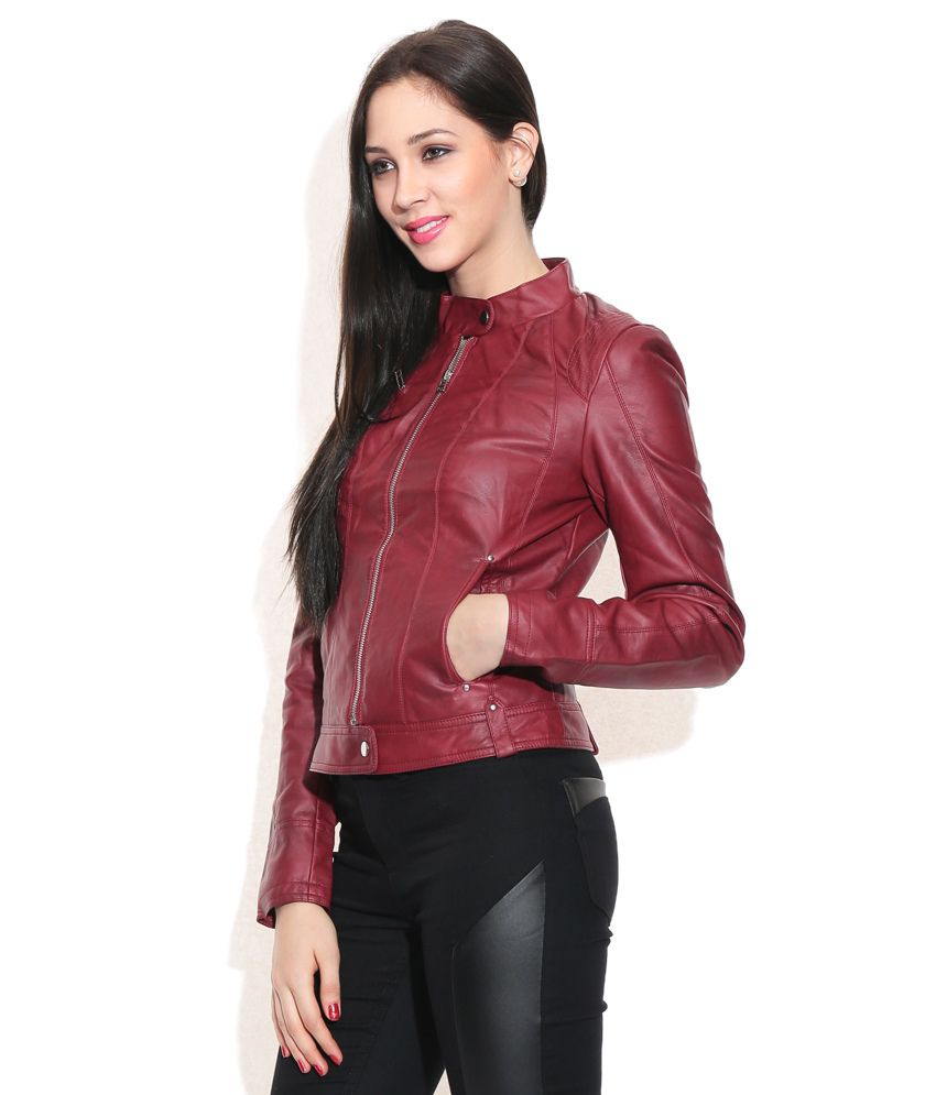 20192b887 Buy Vero Moda Maroon Jacket Online at Best Prices in India - Snapdeal