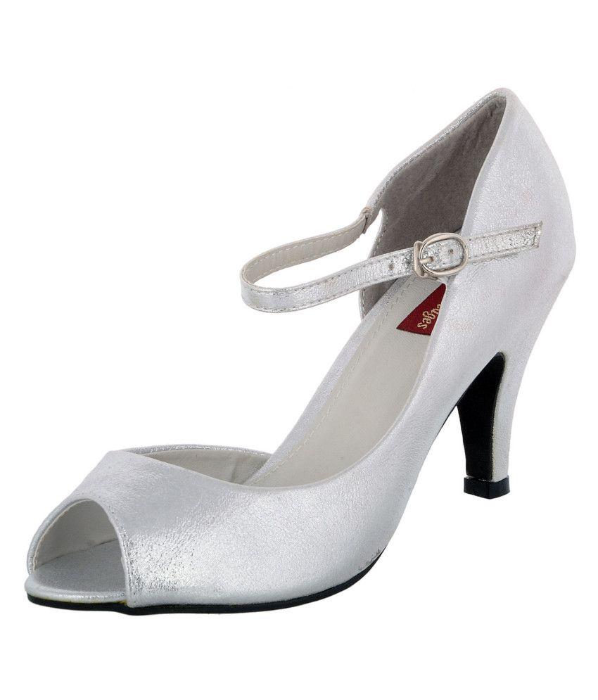 Heels N Wedges Silver Stiletto Sandals