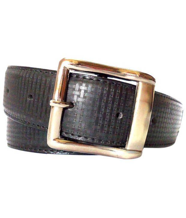 K London Black Casual Single Belt For Men