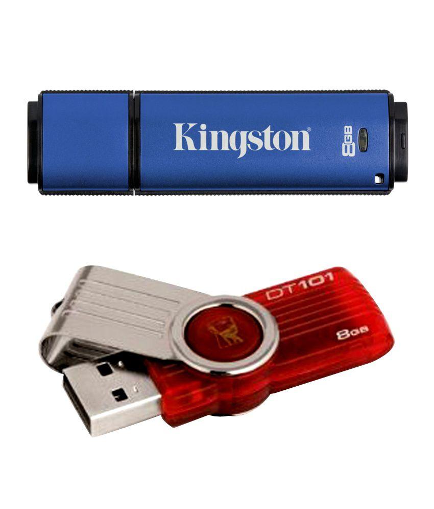 Kingston DataTraveler 8 GB Flash Drive Vault Privacy Edition (Free - Kingston 8 GB DataTraveler 101 Gen 2 USB Drive)