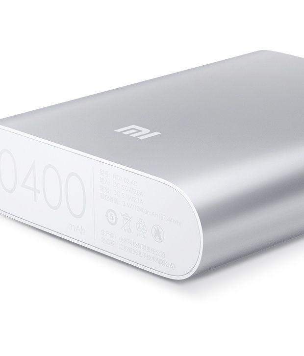 4a6b168a6b0 Xiaomi Mi Power Bank 10400Mah Black Silver - Power Banks Online at ...