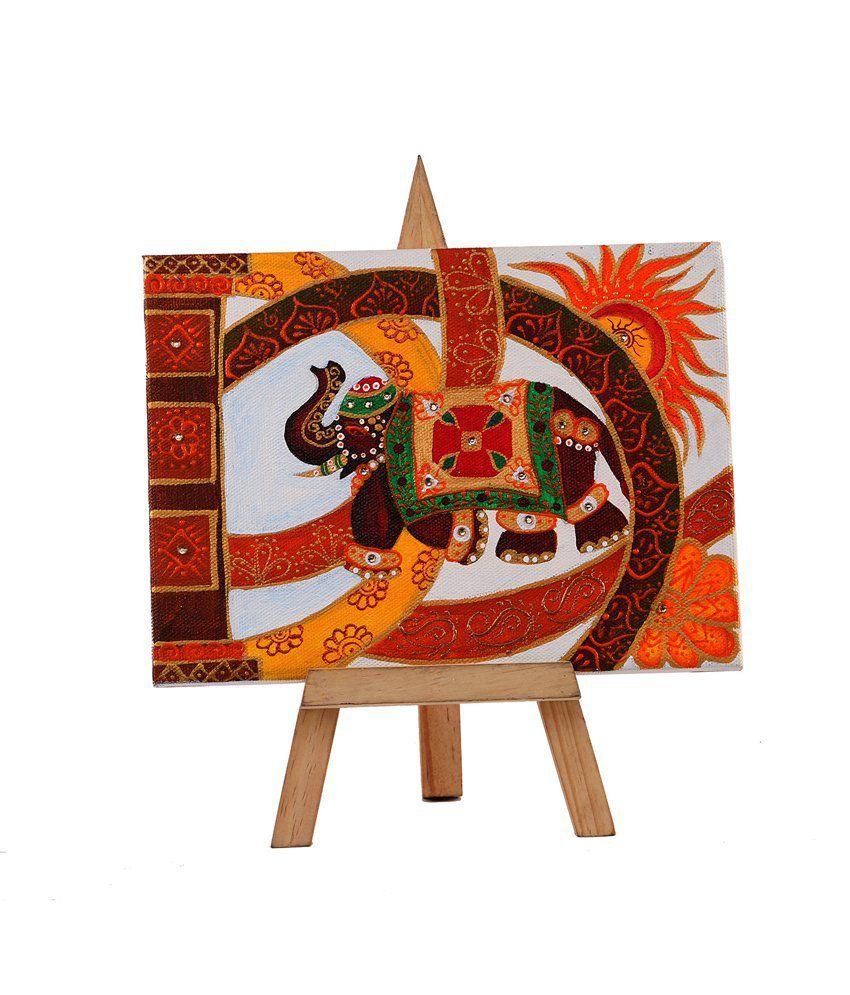 Rang Rage Royal Mini Easel Majestic Elephant Painting