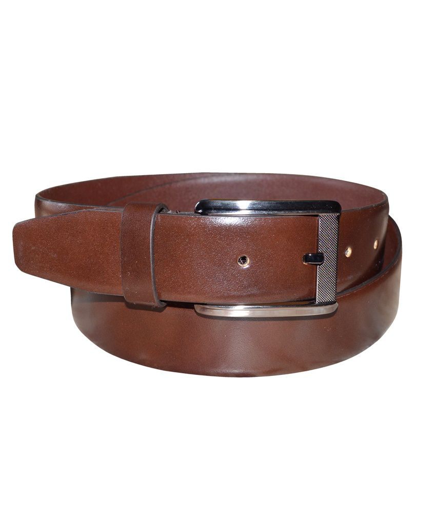 Silverbull Brown Leather Pin Buckle Casual Belt
