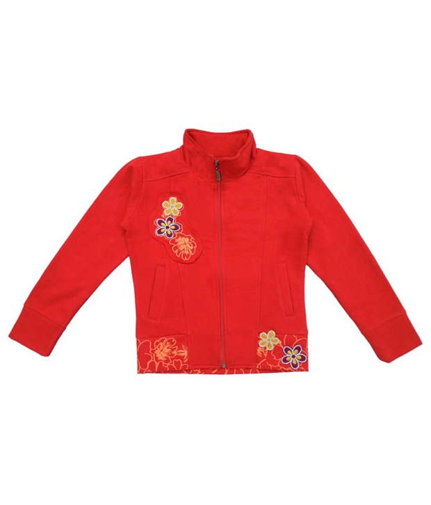 Sweet Angel Red Sweatshirt For Girls