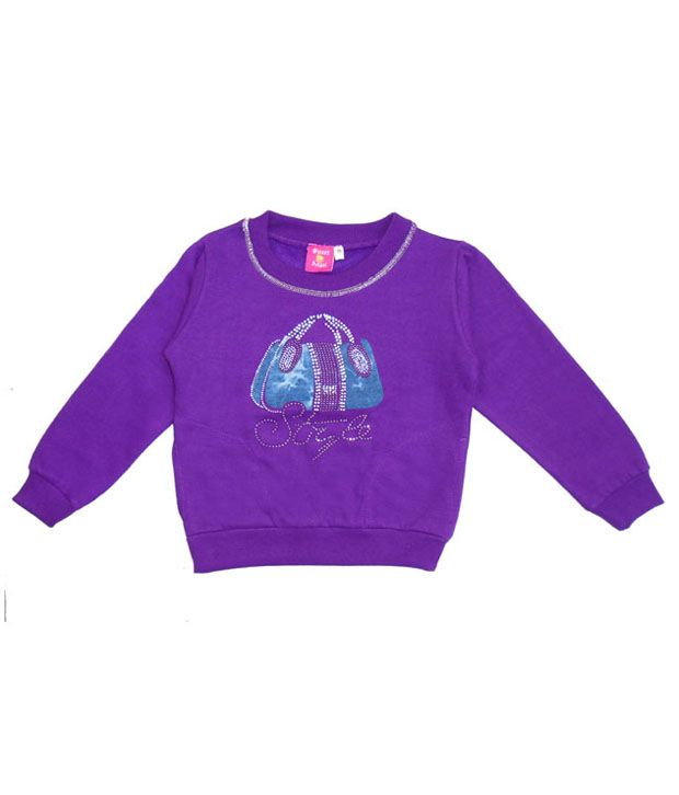 Sweet Angel Trendy Purple Sweatshirt For Girls