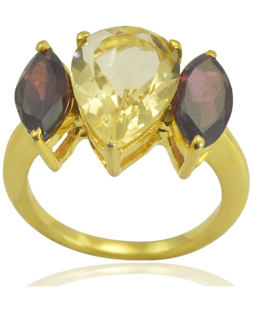 Arsh Crown Sky Dominion 14k Yellow Gold Plated Sterling Silver Ring