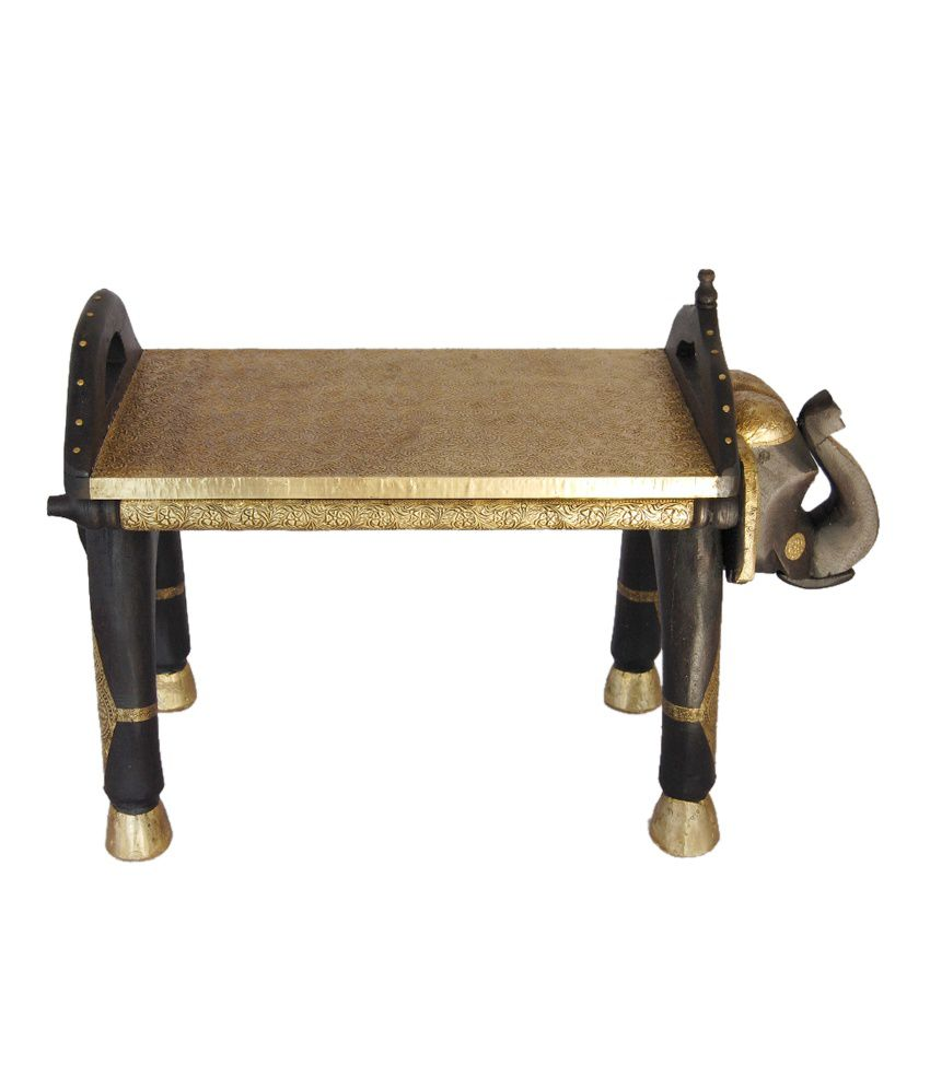 Brass Fitted Decorative Elephant Shape Benchstool Buy Brass Fitted