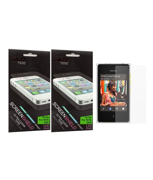 Jazz Clear Screen Guard For Nokia Asha 502 - Set Of 2 - Mobile Screen Guards Online at ...  Jazz Clear Scre...