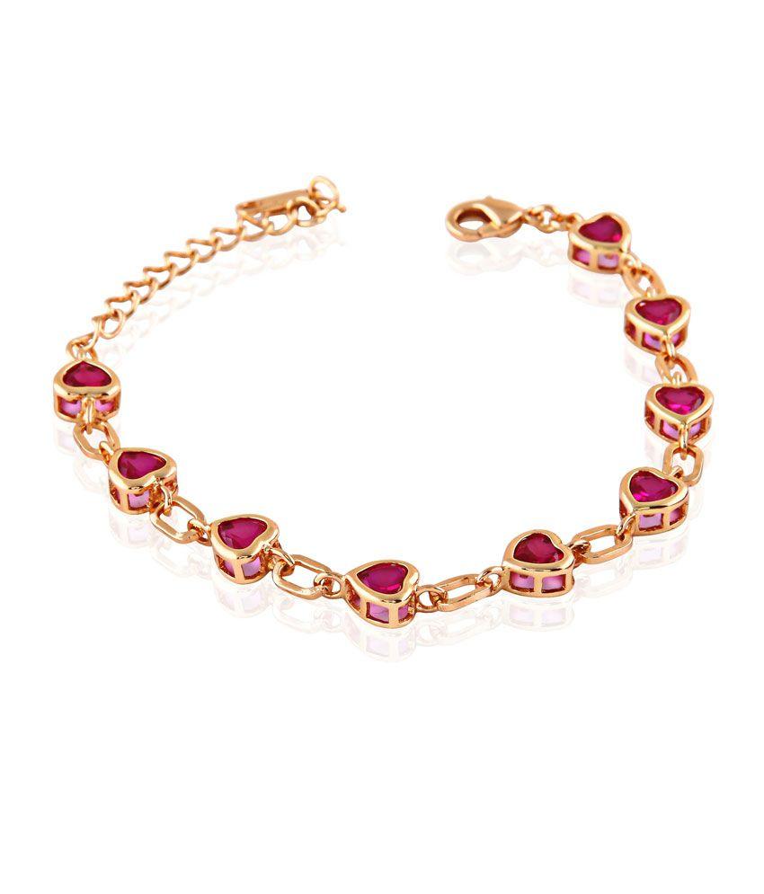 Kbk Jewels Gold Circle Of Life Bracelet