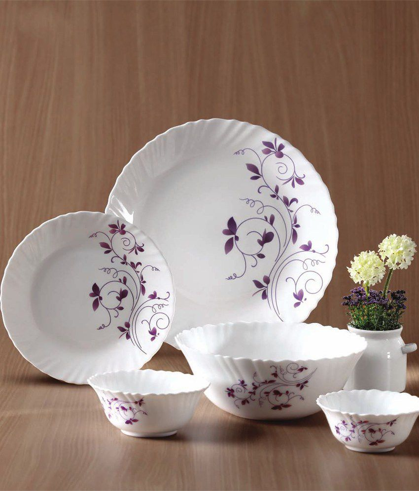 ... La Opala Diva Dazzle Purple Dinner Set 33 Pcs : tupperware dinner plates - pezcame.com