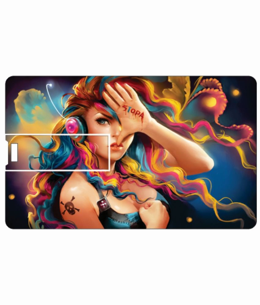 Printland Angelic Beauty 8 Gb 8 Gb Pen Drives Multicolor