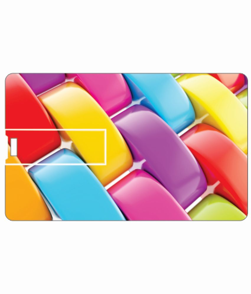Printland Nail Art 8 Gb 8 Gb Pen Drives Multicolor
