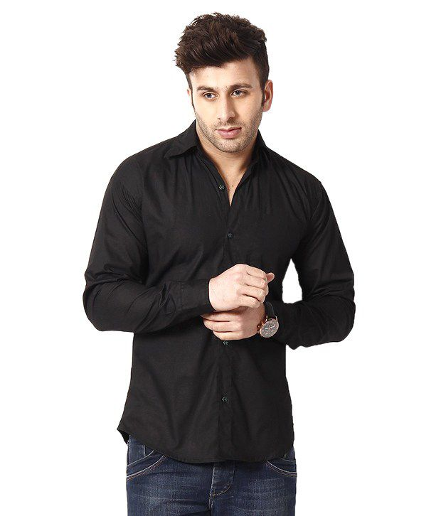 c4aa13cc05 Ree Combo Of Blue Slim Denim Jeans And Black Shirt - Buy Ree Combo Of Blue  Slim Denim Jeans And Black Shirt Online at Best Prices in India on Snapdeal