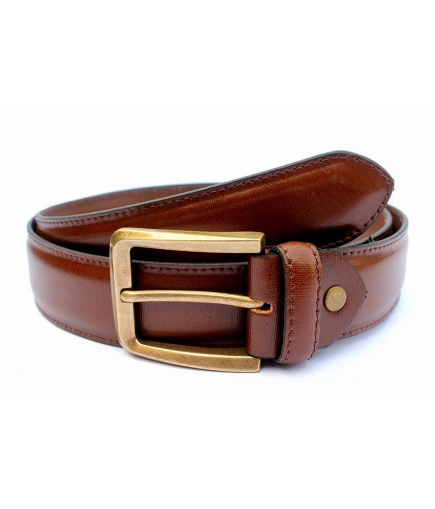 Tops Tan Leather Formal Belts