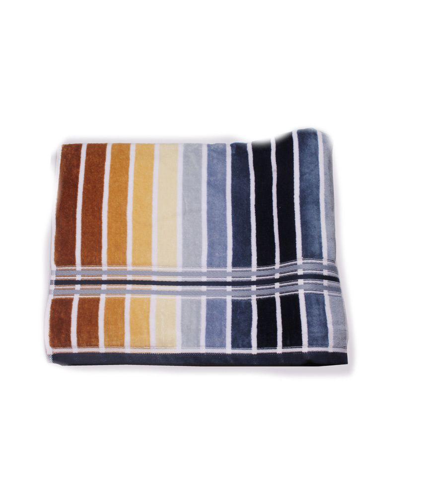 Aransa Single Cotton Bath Towel - Multi Color