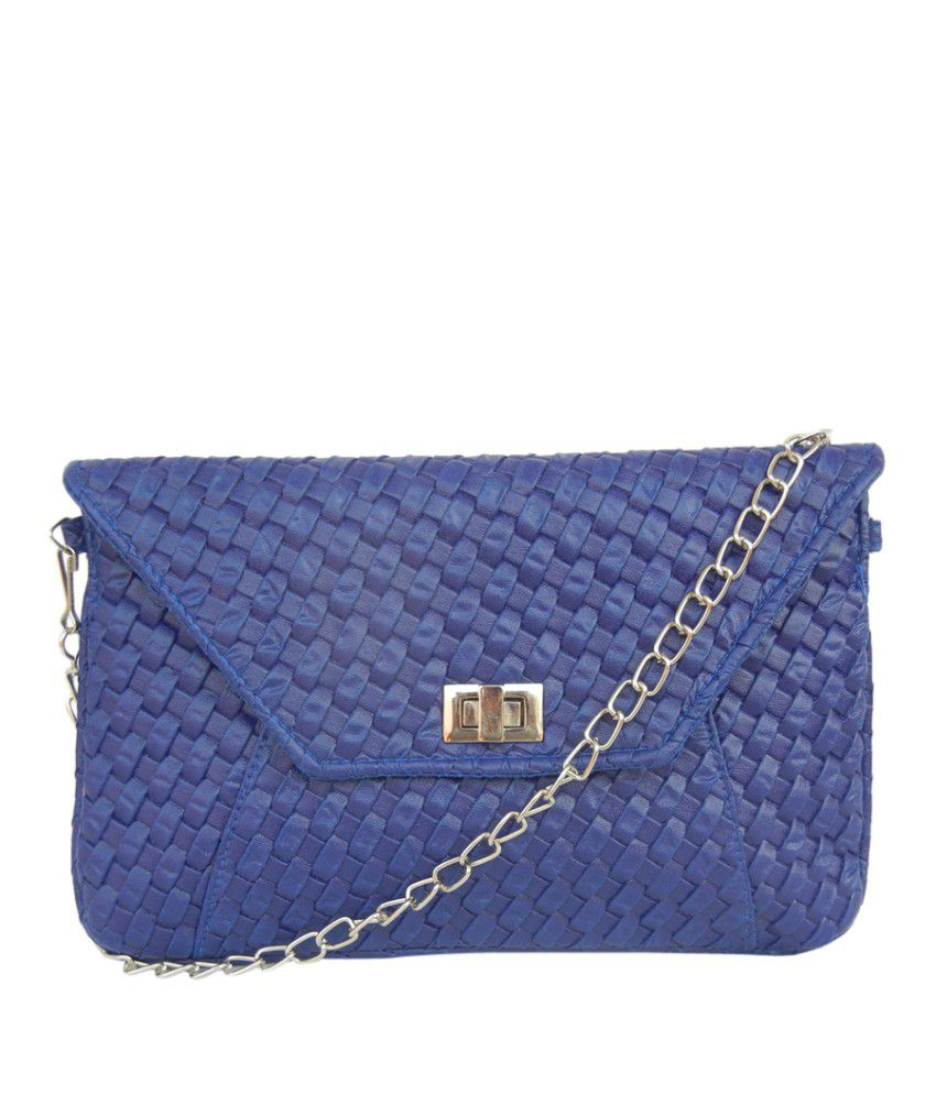 Akriti Gm10403 Blue Sling Bags