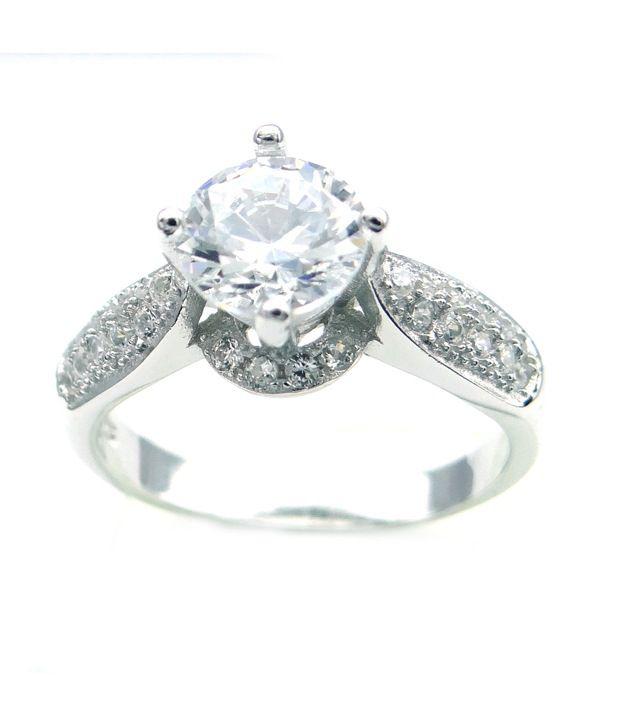 Arihant Gems & Jewels 92.5 Sterling Silver Ring