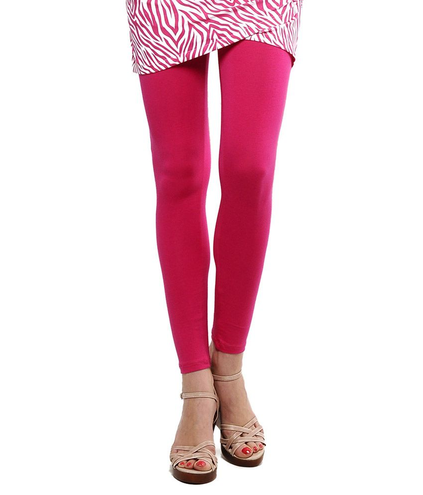 Femmora Pink Cotton Jeggings