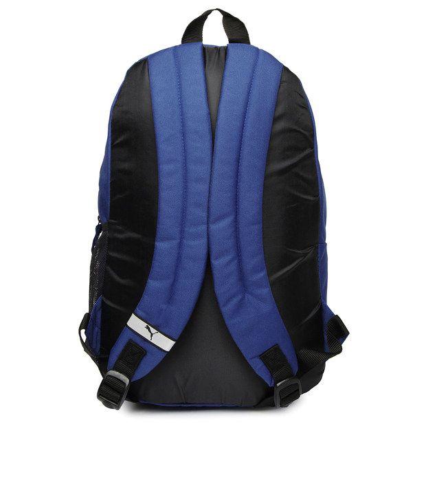 Puma Blue Polyster Stylish Echo Plus Backpack - Buy Puma Blue ... a67cc11e72831