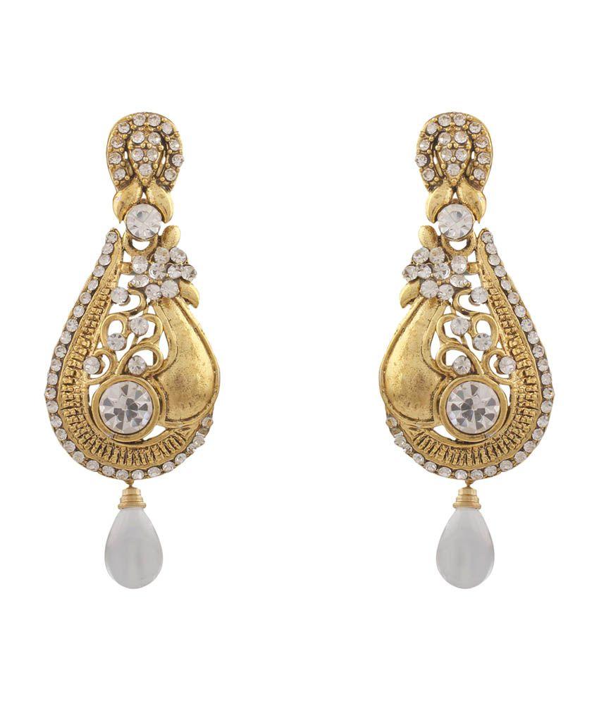 Variation Austrian Diamond Gold Plated Fashion Earrings