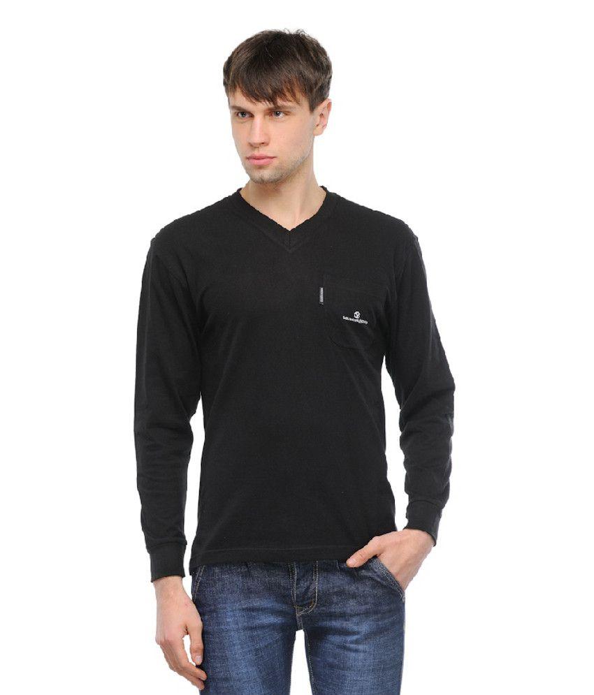 Tsx Black Cotton Full Shirt