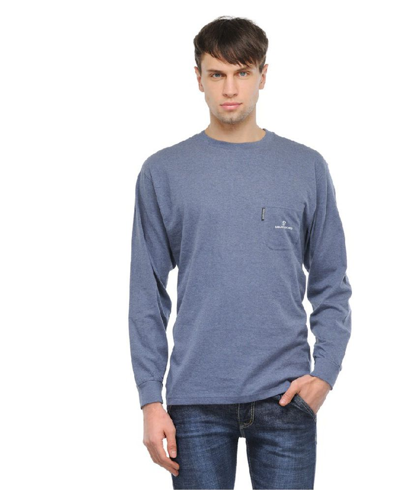 Tsx Blue Cotton Full Shirt