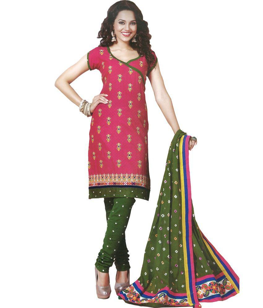 Kutch embroidery dress material makaroka